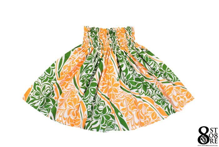 画像1: 【 HULA 】pau スカート パウスカート オレンジ 73cm丈 (1)
