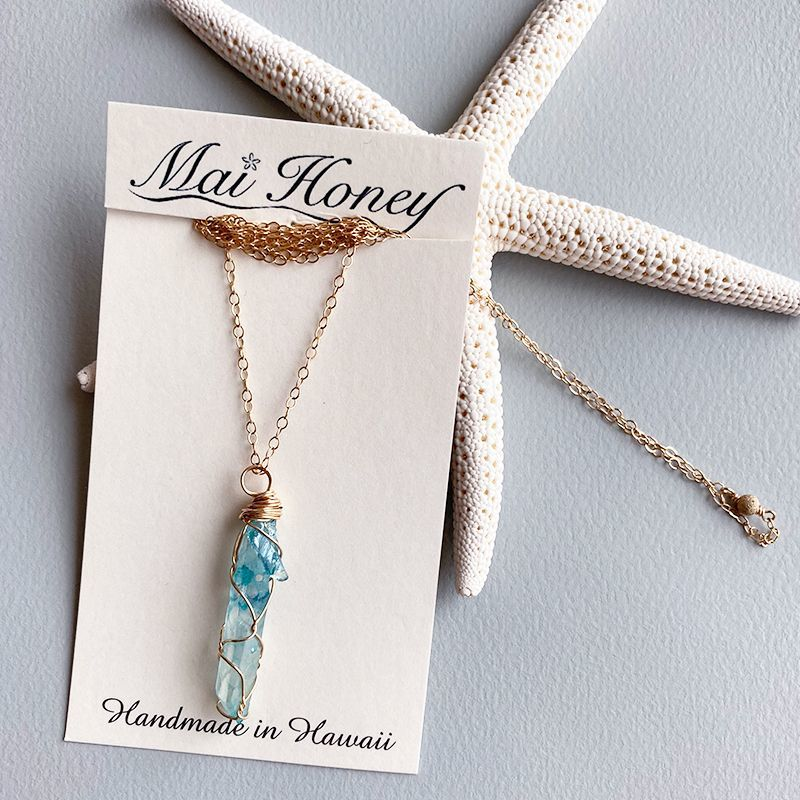 画像1: 【Mai Honey】stone necklace (1)