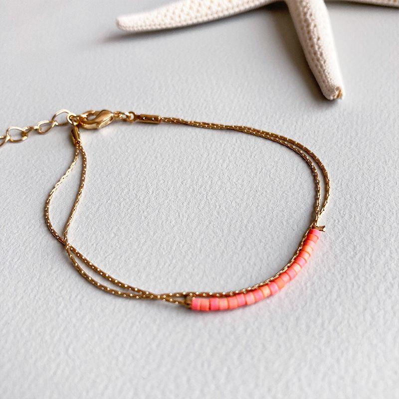 画像1: NEON color beads bracelet  (1)