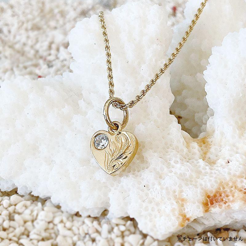 画像1: 【ハワイアンジュエリー】14K heart necklace top (1)