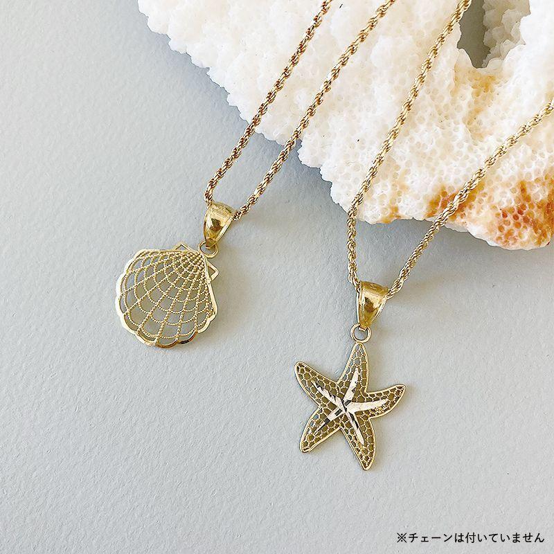 画像1: 【ハワイアンジュエリー】14K shell / statfish necklace top (1)