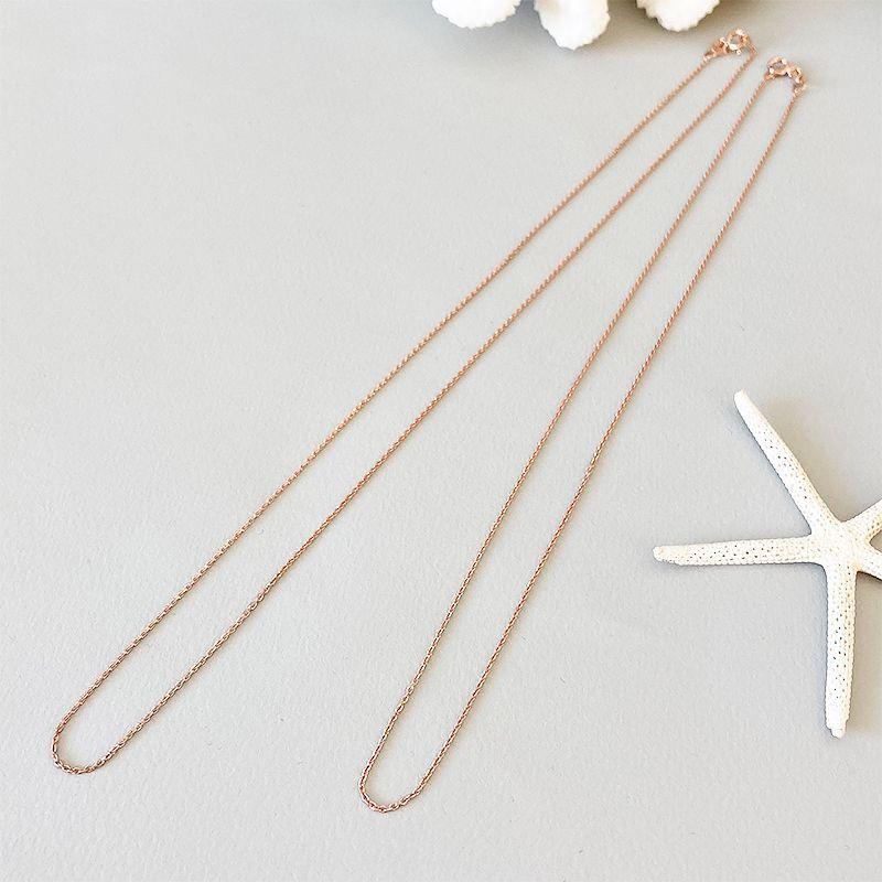 画像1: silver necklace chain  【Ancor ROSE】 (1)