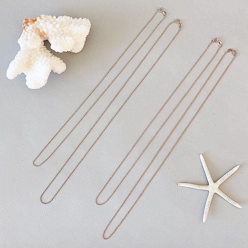 画像1: 14K necklace chain  【 Bead 】 (1)