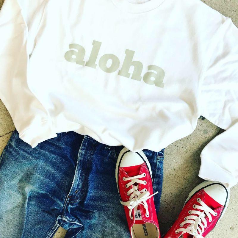 画像1: 【SALE】オリジナル ALOHA スウェット 2018AWモデル (1)