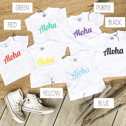 画像1: 【再入荷!!!】オリジナル Tシャツ 【ALOHA 2017年夏モデル】 KIDS 90~150cm (1)