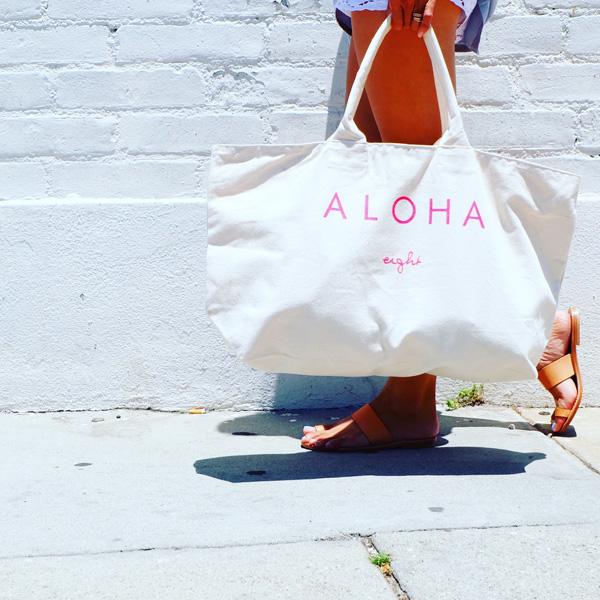 画像1: eight オリジナル NEW ALOHA Big bag トートバッグ (1)