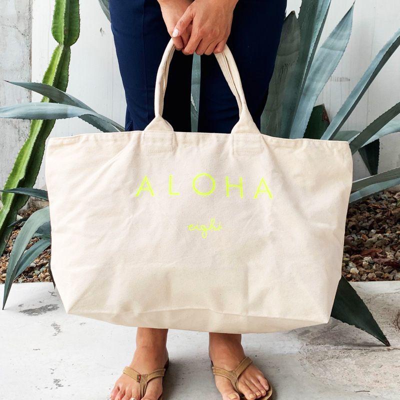 画像1: 【新色追加】eight オリジナル NEW ALOHA Big bag トートバッグ  (1)
