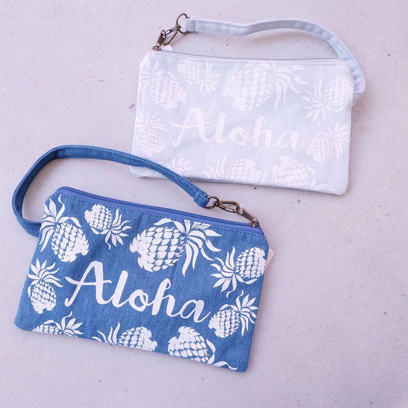 画像1: ALOHAパインデニムバッグインバッグ (1)