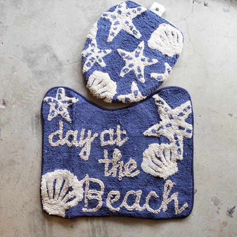 画像1: 【SALE】ビーチ BEACH トイレマット (1)
